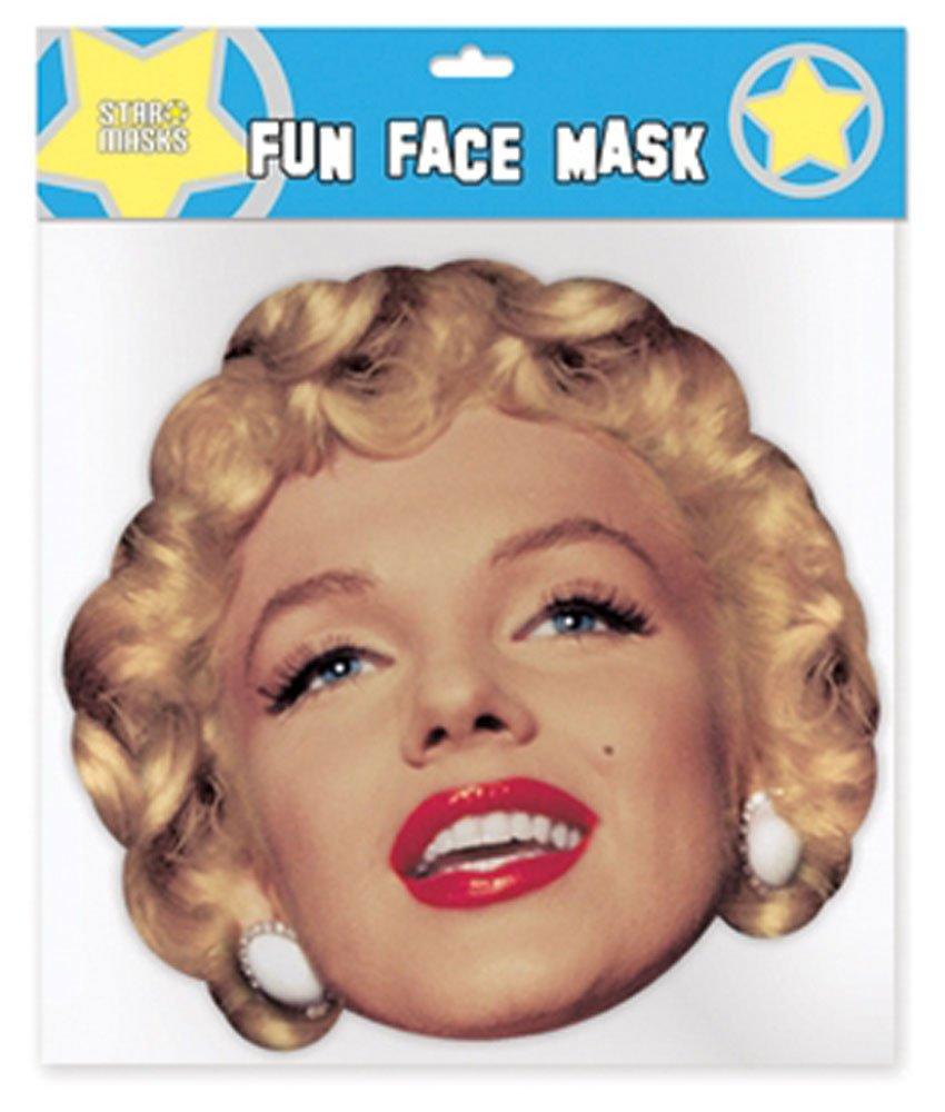 Marilyn Monroe Pappmaske aus hochwertigem Glanzkarton mit Augenlöchern, Gummiband - Größe ca. 30x20 cm empireposter