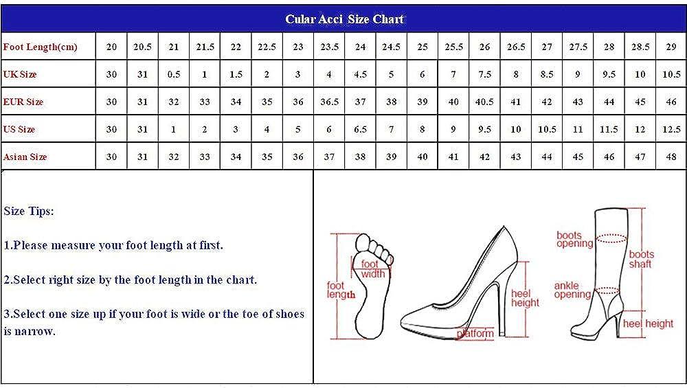 CularAcci Donna Moda Scarpe Tacco a Blocco Plateau Prom 46nero