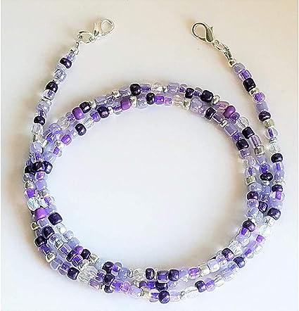 FML055 Metallic Purple and Lilac Face Mask LanyardHolderEyeglasses Lanyard