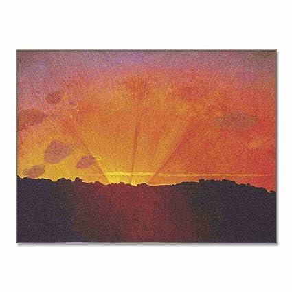 Felix Vallotton Sunset Orange Sky 1910 Original Landscapes Canvas Paintings Hand Painted Reproduction Tablet
