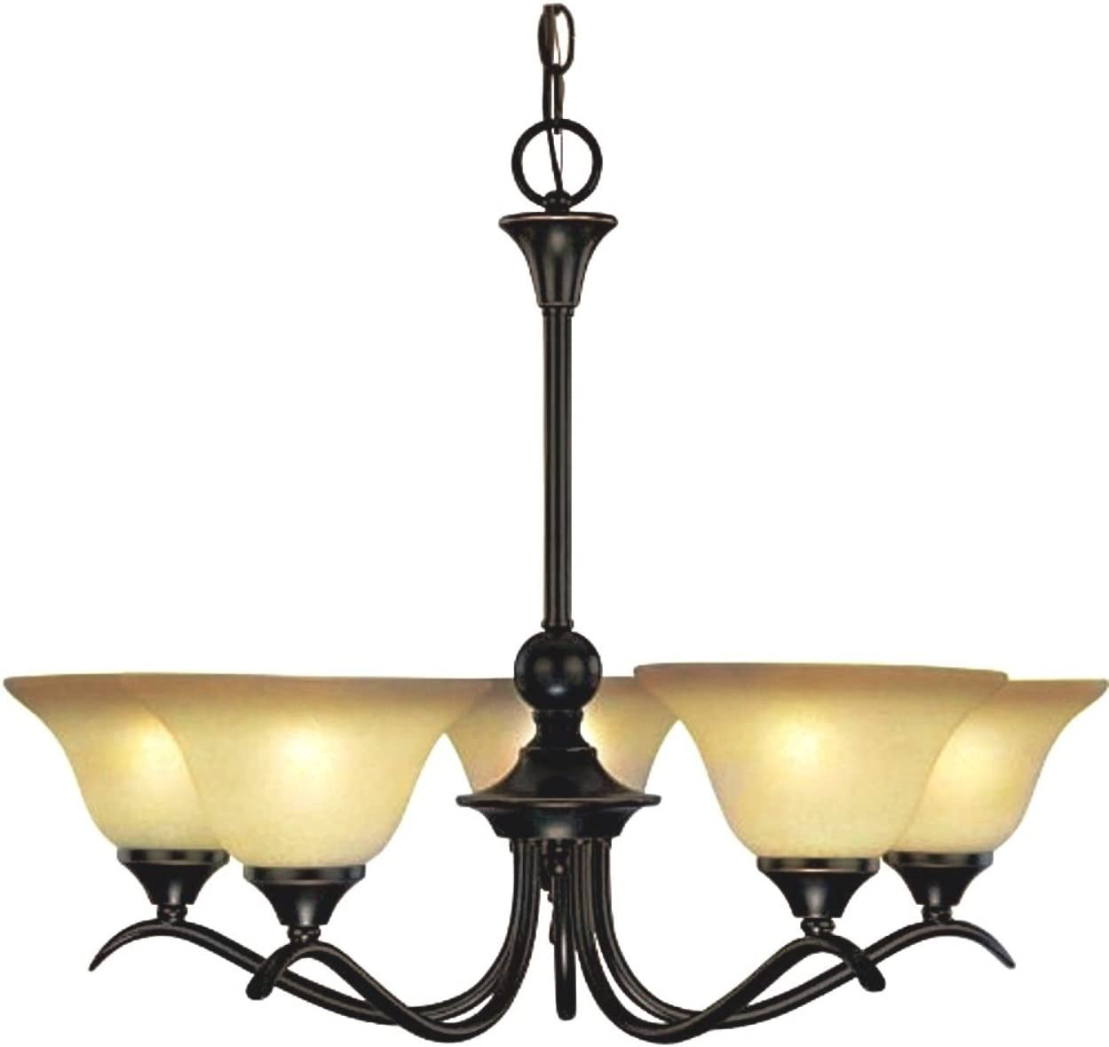 Hardware House 127547 Chandelier, 5 Light Dover Series Classic Bronze