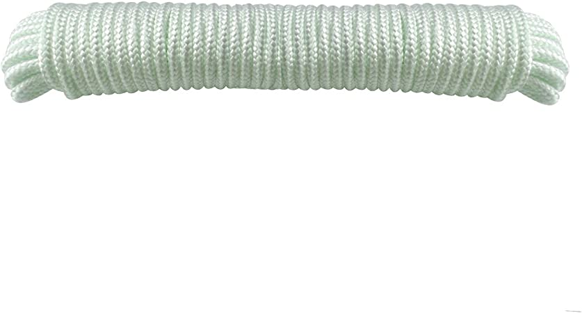 """Rolls Solid Braid Nylon 1//4/"""" in x 100/' ft Boat Marine Utility Line Rope Cord 4"""