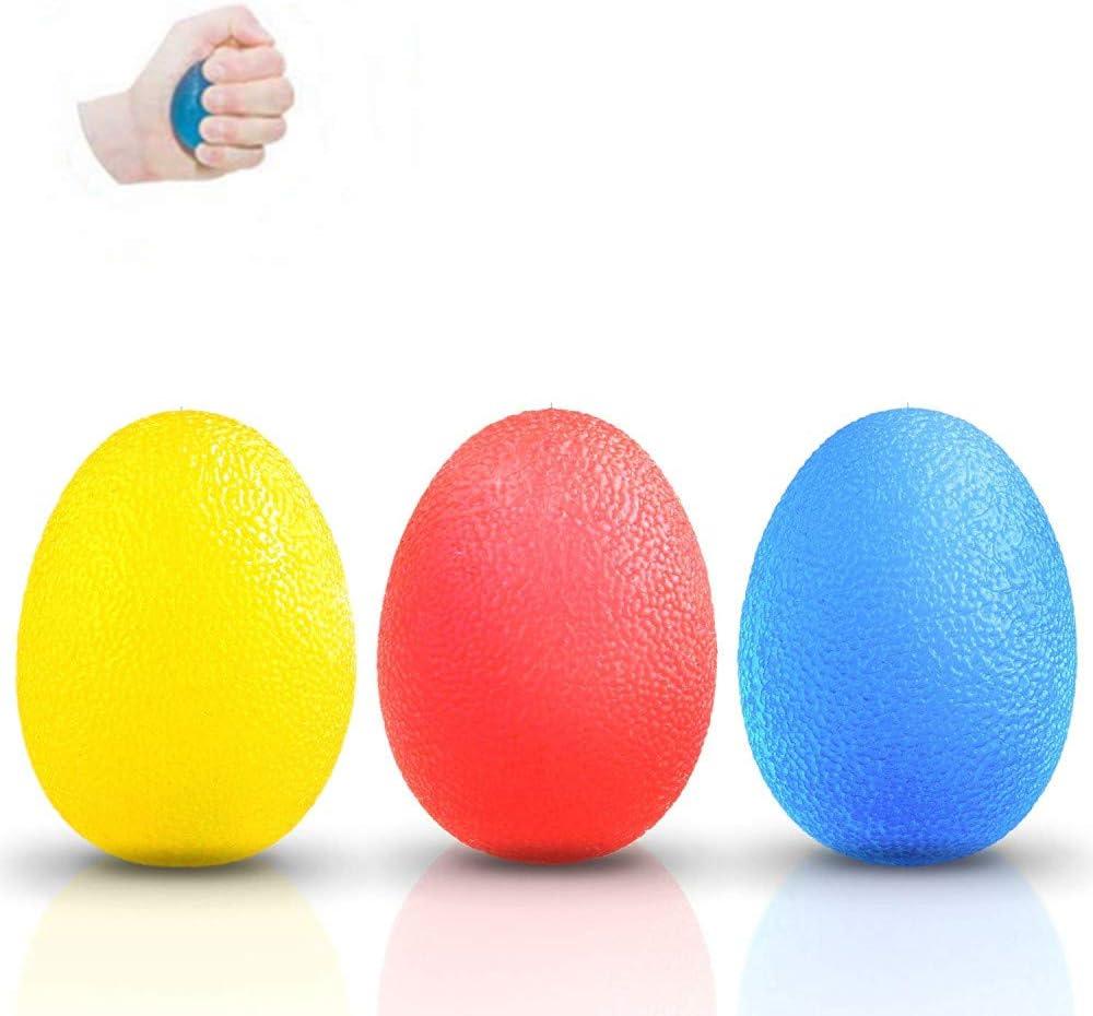 ZARRS Pelotas Anti Estrés,3 Pack Pelotas en Forma de Huevo Gel ...