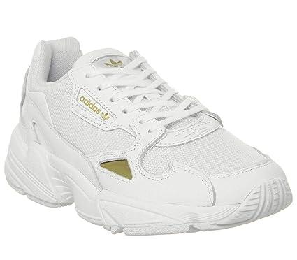 adidas, Falcon Blanco/Gold EE8838 Zapatillas para Mujer