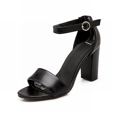 642ec4ba9eb Carol Shoes Women s Fashion Elegance Ankle-Strap Grace Chunky High Heel  Sandals (4.5