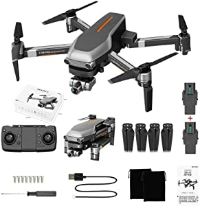 GPS FPV RC Helicopter with 1080P Wide-Angle Camera Live Video Auto Return Home WiFi Motor Drone Brushless Quadcopter for Kids Beginner Long Fly Time Follow Me Function Foldable Arms