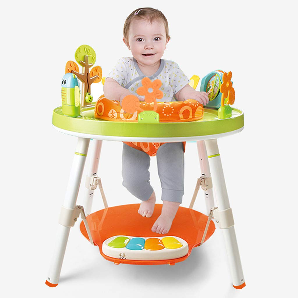 Spin /& Stand Entertainer 360/° Rotating Seat /& Baby Activity Table Airpow 3-in-1 Baby Sit and Stand Activity Center from US Adjustable Height Baby Walker and Mobile Activity Center