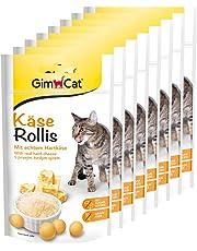 GimCat Käse Rollis – vitaminreicher Katzensnack mit echtem Hartkäse – ohne Zuckerzusatz