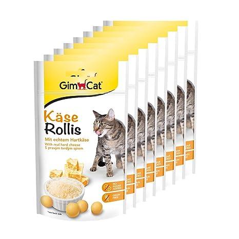 GimCat Rollis, comprimidos de queso - Snack para gatos rico ...