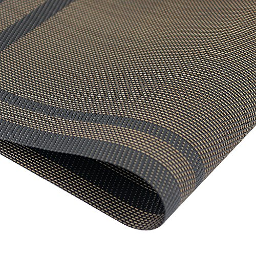 Placemats heat resistant placemats pvc placemats woven vinyl import it all - Heat resistant table cloth ...