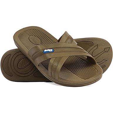 e3204b705523 Amazon.com  Bokos Men s One-Piece Rubber Athletic Slide Sandals  Shoes