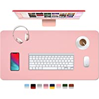 """Dual Sided Leather Desk Pad (31.5 x 15.7""""), Office Waterproof Desk Mat, PU Mouse Pad, Desk Protector Cover, Desk Writing…"""