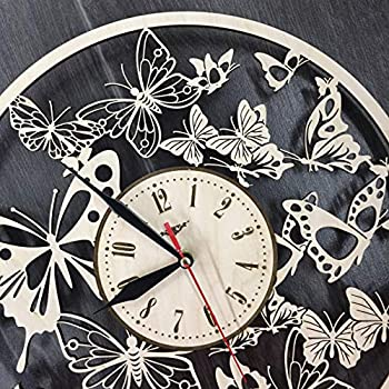 Flawless workshop Butterfly Wall Art Wall Wood Clock Home Decor Personalized Gifts Steampunk Art Butterfly Wall Hanging Butterfly Clock Butterfly Wall Decor