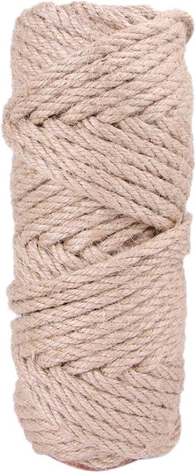 Fugift 10 m DIY casero gato rasguño tablero cuerda de sisal ...
