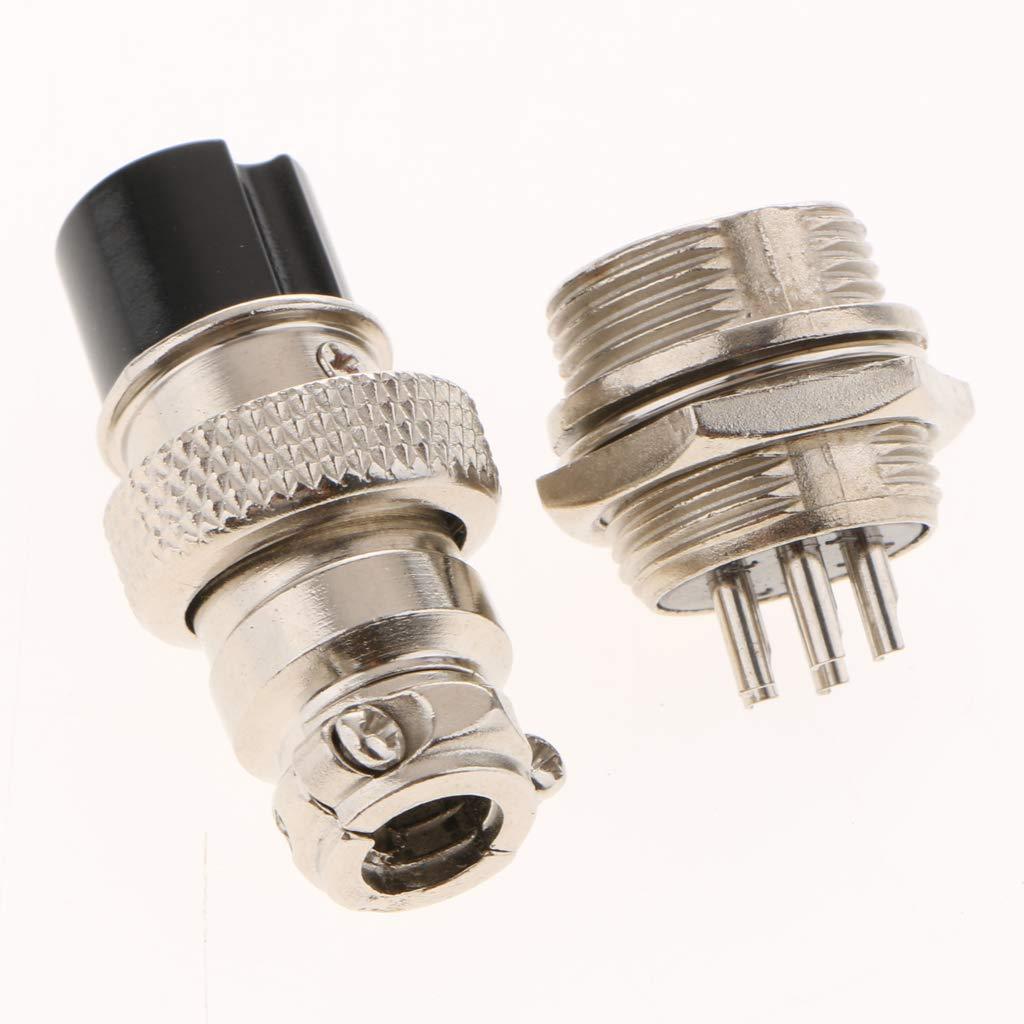 10pair gx16 Homyl Imperm/éable Connecteur Aviation Socket Capteur Capuchon Gx16 Anti-poussi/ère