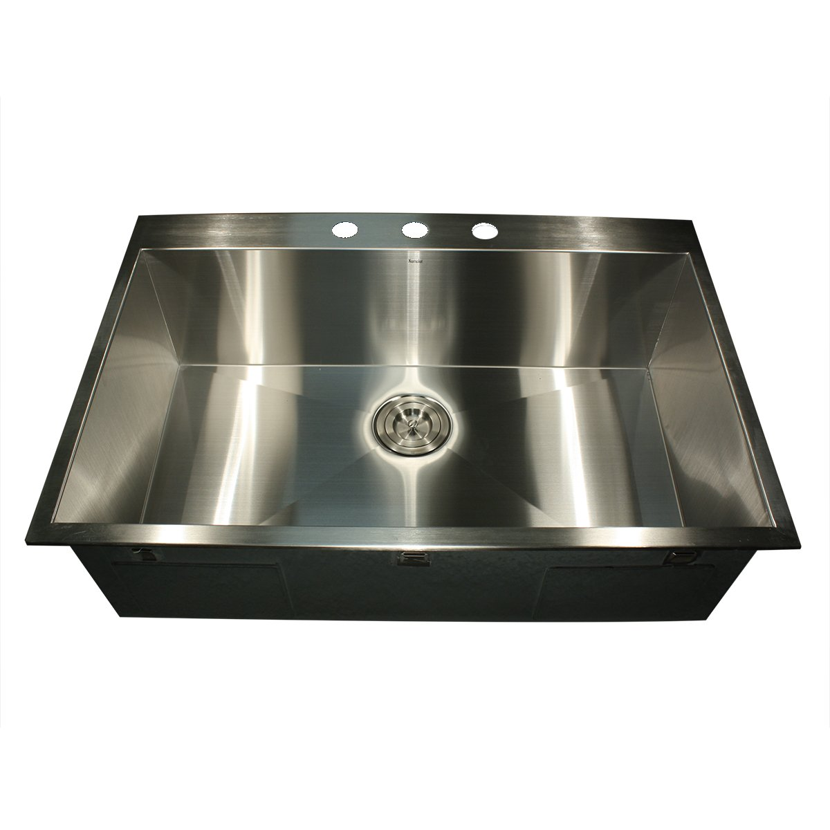 Nantucket Sinks ZR3322 33-Inch Pro Series Single Bowl Self-Rimming Kitchen Sink, Stainless Steel