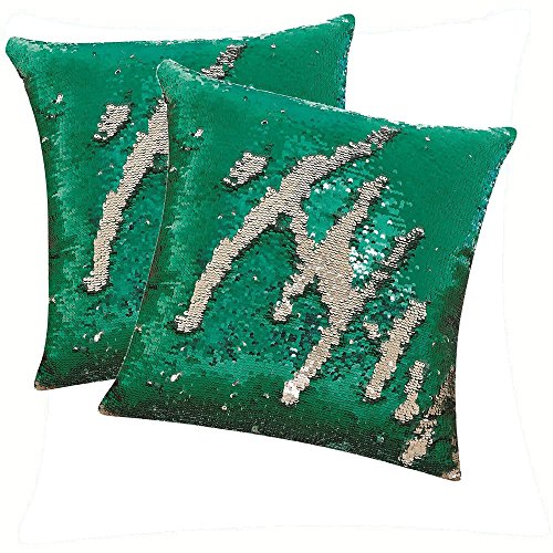 DECOSY Magic Reversible Mermaid Sequin Throw Pillowcases 16