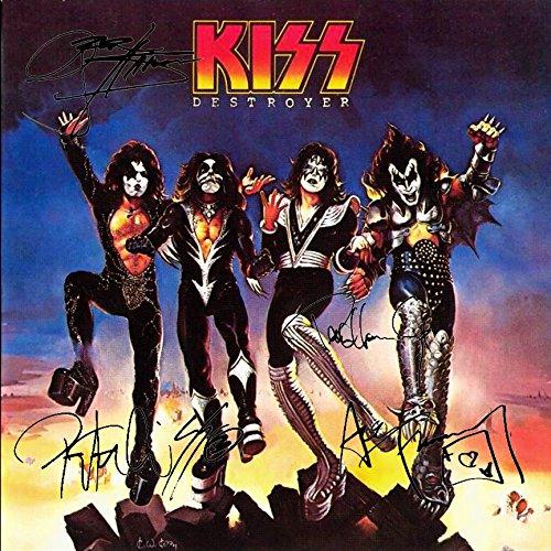 Kiss Signed Autographed Destroyer Record Album Cover LP Autographed Signed Facsimile