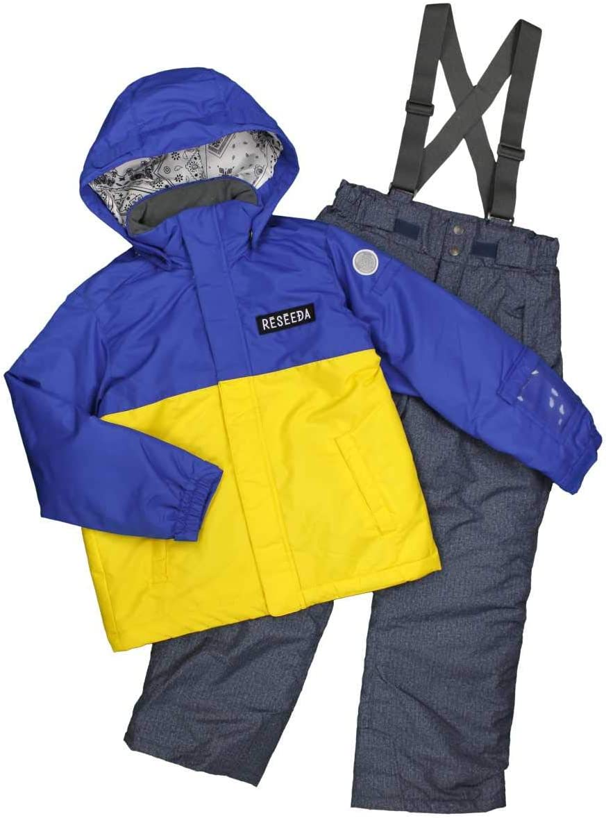 ピアニッシモ ボーイズジュニア スキーウェア 男の子 オンヨネ ONYONE スキーウェア バイカラー サイズ調整機能付 ウエア セット サンプル品 S-ブルー-インディゴ 140cm 150cm 160cm