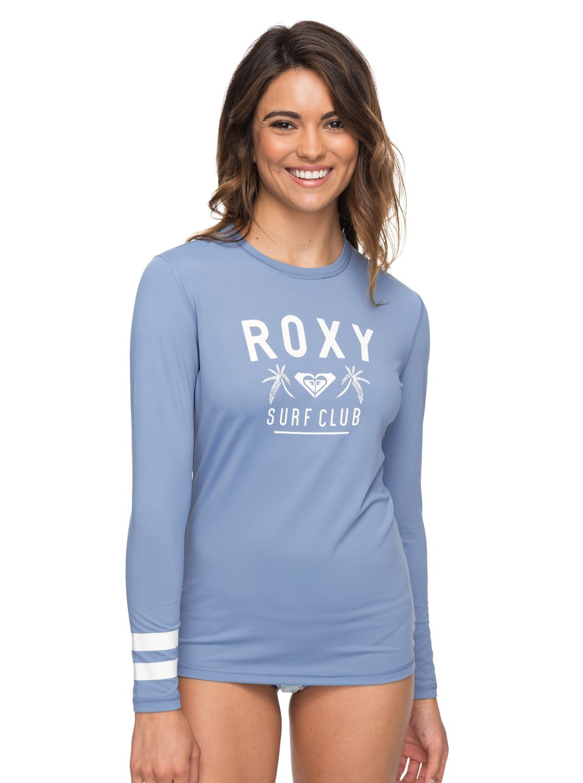 Roxy Womens Enjoy Waves Loose Fit - Long Sleeve Upf 50 Rashguard - Women - Xs - Blue Blue Shadow Xs