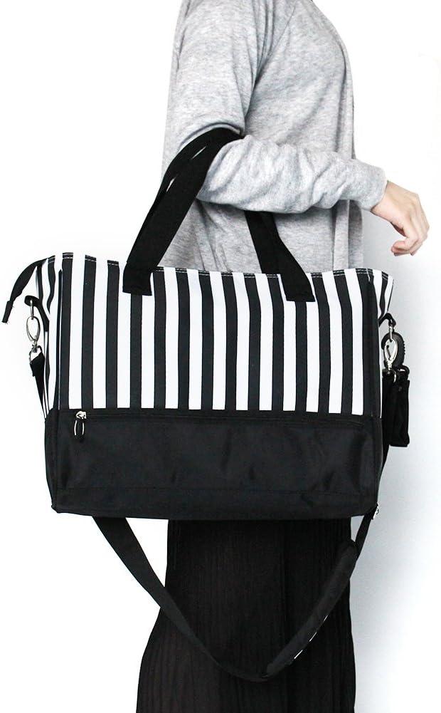 Kangming 5pcs rayas beb/é bolsa de pa/ñales bolso cambiador para hospital maternidad con aislamiento botella Holder cambiador negro negro
