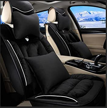 RUIRUI Plush Car Seat Cover CushionsFront Rear Full Set Covers For 5