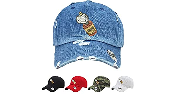 49deba51f1e Allntrends Adult Hat Mickey Hands Henny Vintage Dad Hat Embroidered (Medium  Denim)  Amazon.ca  Clothing   Accessories