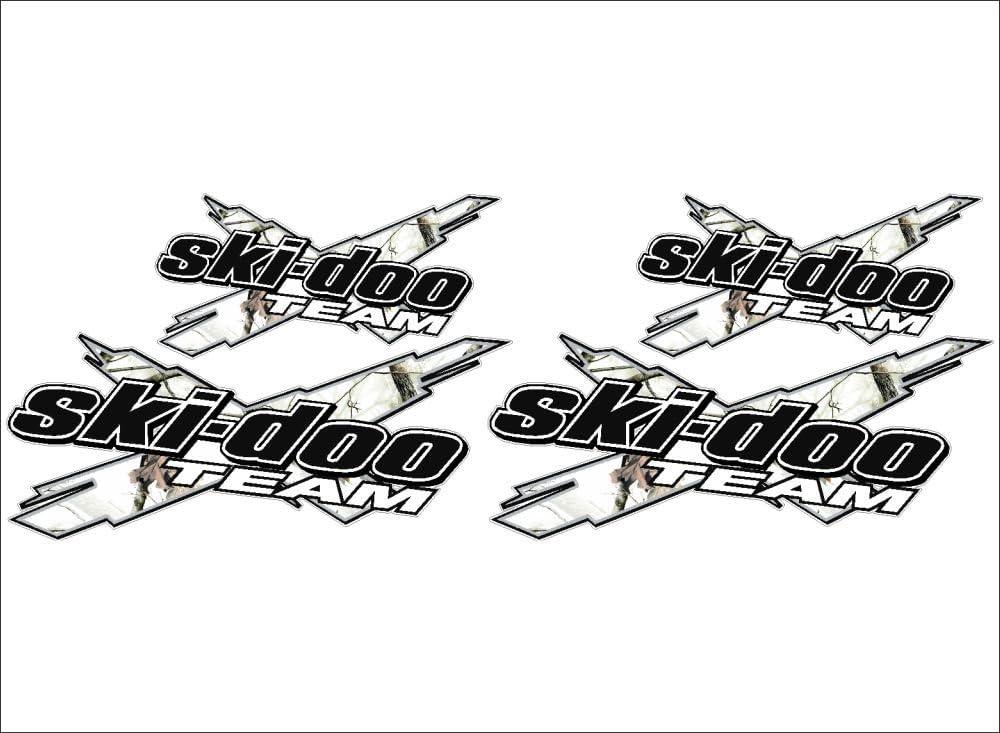 "Snowmobile Decal CAMO WHITE 12/"" Vinyl Graphic SKI-DOO Team 3DX"