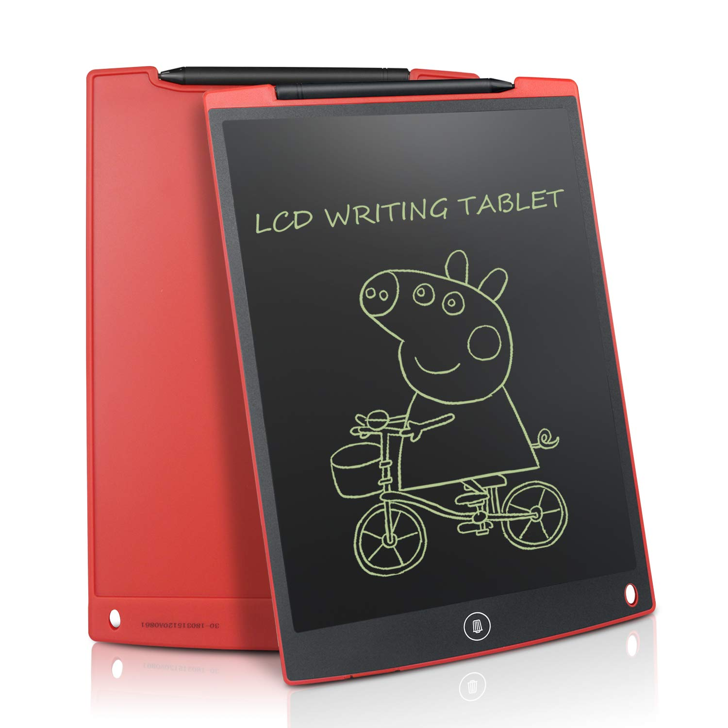 12 inch LCD Graphics Tablet LCD Writing Tablet/Writing Tablet Notepad with Pen Environmentally Friendly for Writing and Drawing Blue (black) Newyes NYWB12-BL