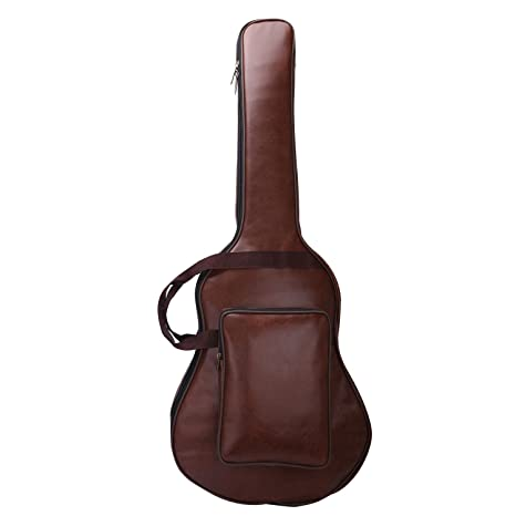 Funda de Guitarra de Piel Sintética CAHAYA, Acolchada, hecha de PU para Guitarra Eléctrica, Acústica y Clásica de 40 y 41 Pulgadas