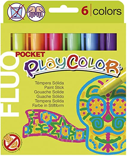 Playcolor 936009 - Pack de 6 temperas sólidas: Amazon.es: Oficina ...