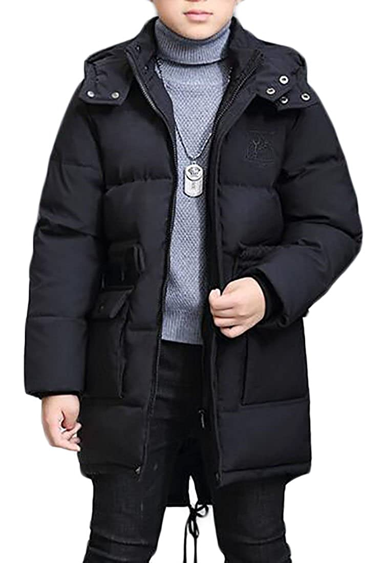 Cromoncent Boys Winter Padded Puffer Thick Loose Fit Down Jacket Outwear
