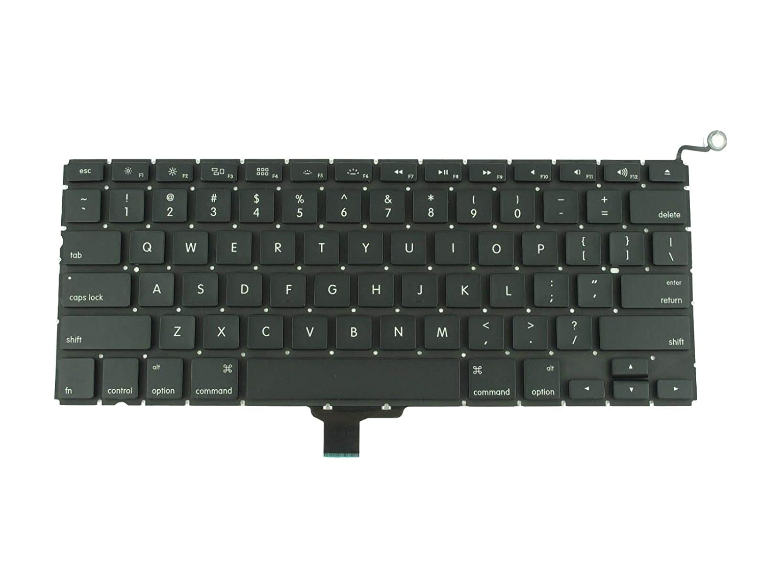 Brand New Replacement for Macbook Pro 13 US Layout Keyboard A1278 Model Year 2009-2010-2011-2012 Comes with One year warranty by TB Back-light is not Included