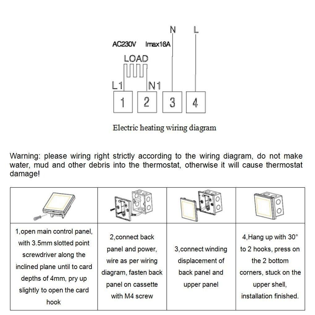 Digital Heizungsregelung Programmierbar mit LCD Touchscreen 240V 12A//16A Fogun Wlan Thermostat Smart Raumthermostat Heizk/örperthermostat Heizungsthermostat