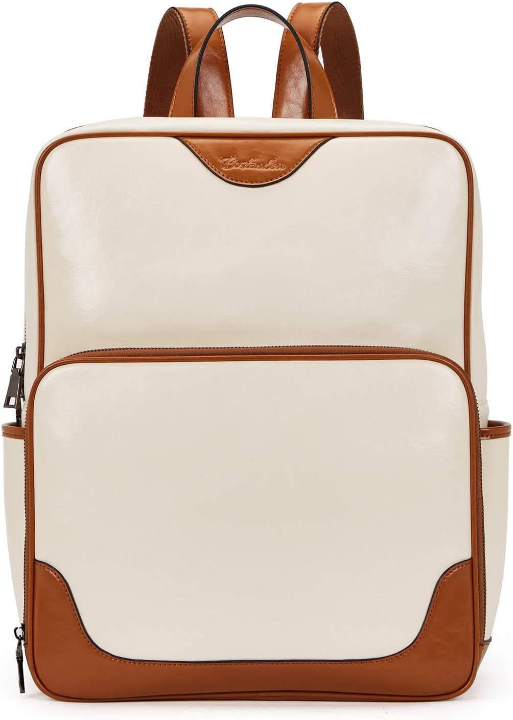 BOSTANTEN Womens Leather Backpack Purse Laptop Bag Casual College Casual Bags Fashion Daypack