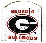 KH Sports Fan 4'' x 5.5'' Georgia Bulldogs Weathered Logo Small College Plaque