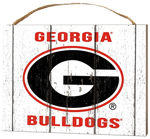 KH Sports Fan 4'' x 5.5'' Georgia Bulldogs Weathered Logo Small College Plaque by KH Sports Fan (Image #1)