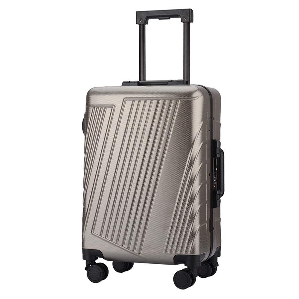 旅行用品荷物スーツケーストロリーケース プレミアム回転スピナートラベル荷物トロリーケースTSAロック付き荷物小物持ち込み直立スーツケース360°サイレントスピナー多方向ホイール飛行機のフライトチェックイン20インチ24インチ (色 : ブロンズ, サイズ : 24inches) B07SPZ49M2 ブロンズ 24inches