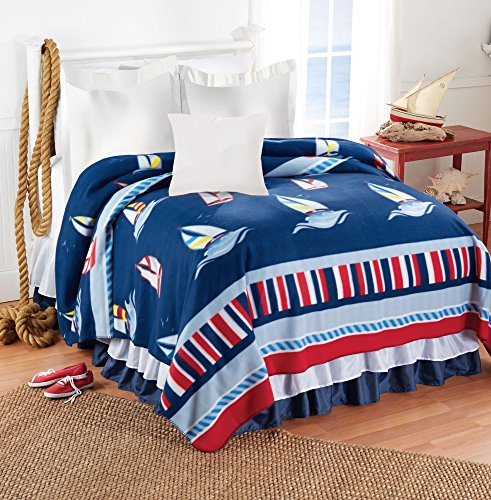 The Paragon Fleece Blanket - Soft, Warm Plush Nautical Sailb