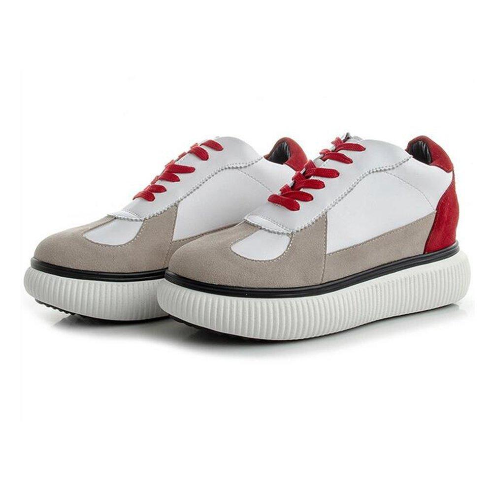 Damenschuhe 2018 Spring Fall Little Weiß Schuhe Neue Leder Freizeitschuhe Damen Breathable Turnschuhe Mode-Reisen-Schuhe A 39