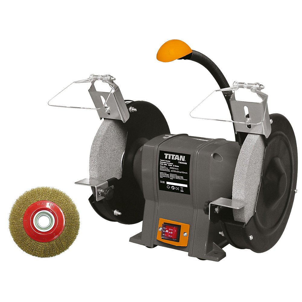 TITAN TTB521GRB 200MM BENCH GRINDER 240V. High Quality And Easy To Use