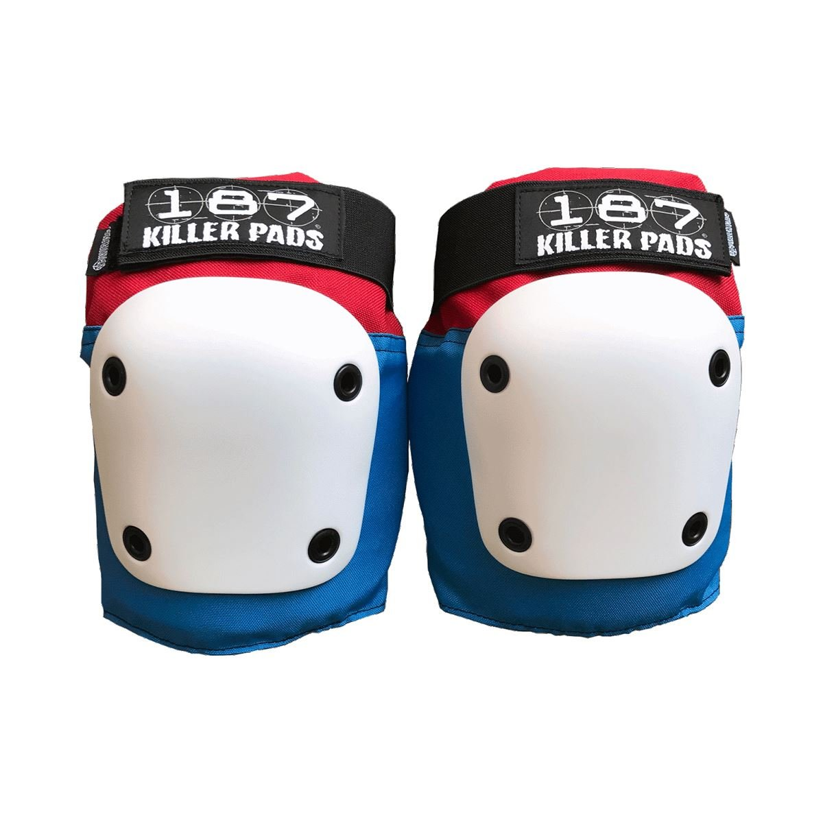 187 Killer Pads Fly Knee (Red/White/Blue, Medium)