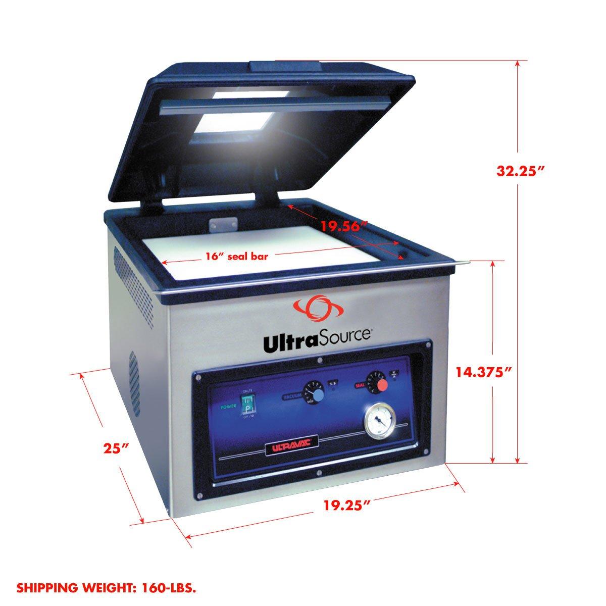 "Amazon.com: Ultravac 225 Chamber Vacuum Packaging Machine, 7.25"" Chamber  Depth: Industrial & Scientific"