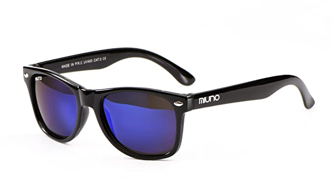 Miuno® Kinder Sonnenbrille Polarisiert Polarized Wayfare Etui 6833 verspiegelt CFTami