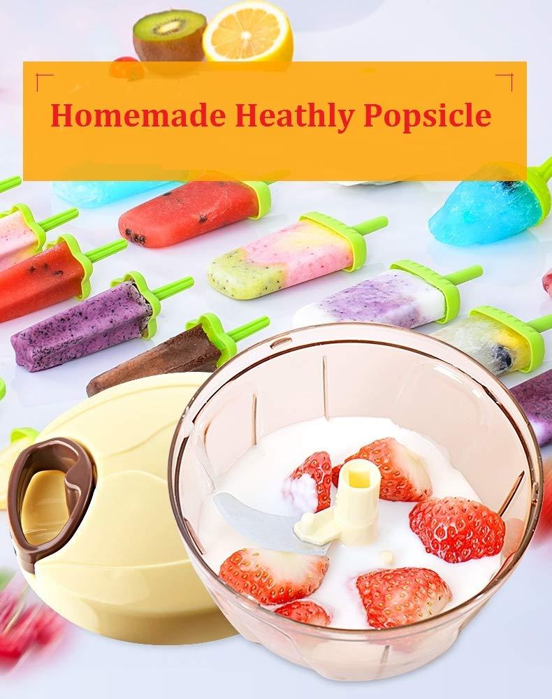 Molde para helados | Molde de polo de helado de 6 celdas + molde de silicona 3 | Libre de BPA y reutilizable | Respetuoso del medio ambiente | Perfecto para ...