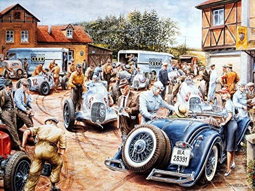 Amazon.com: Automotive Art Vaclav Zapadlik Vintage Racing 14 x 11 Photo  Print: Posters & Prints