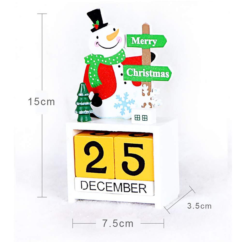 Hilai Navidad Mini Escritorio Calendario Ornamento Calendario de ...