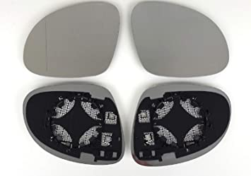 rechts 2er Set beheizt Ersatzglas f/ür elektrische Aussenspiegel Spiegel Spiegelglas Links