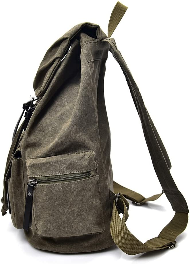 Teng Peng Multi-Function Backpack Fashion Trend Student Bag Canvas Leisure Backpack Thickening Travel Large Capacity Men and Women Backpack Backpack