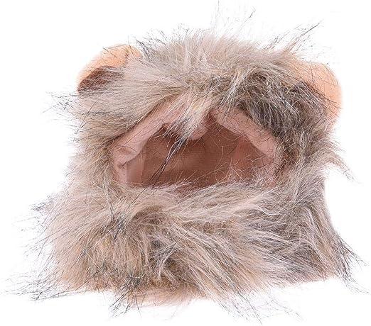courti Traje De Mascota Peluca De Melena De León para La Decoración del Gato del Perro